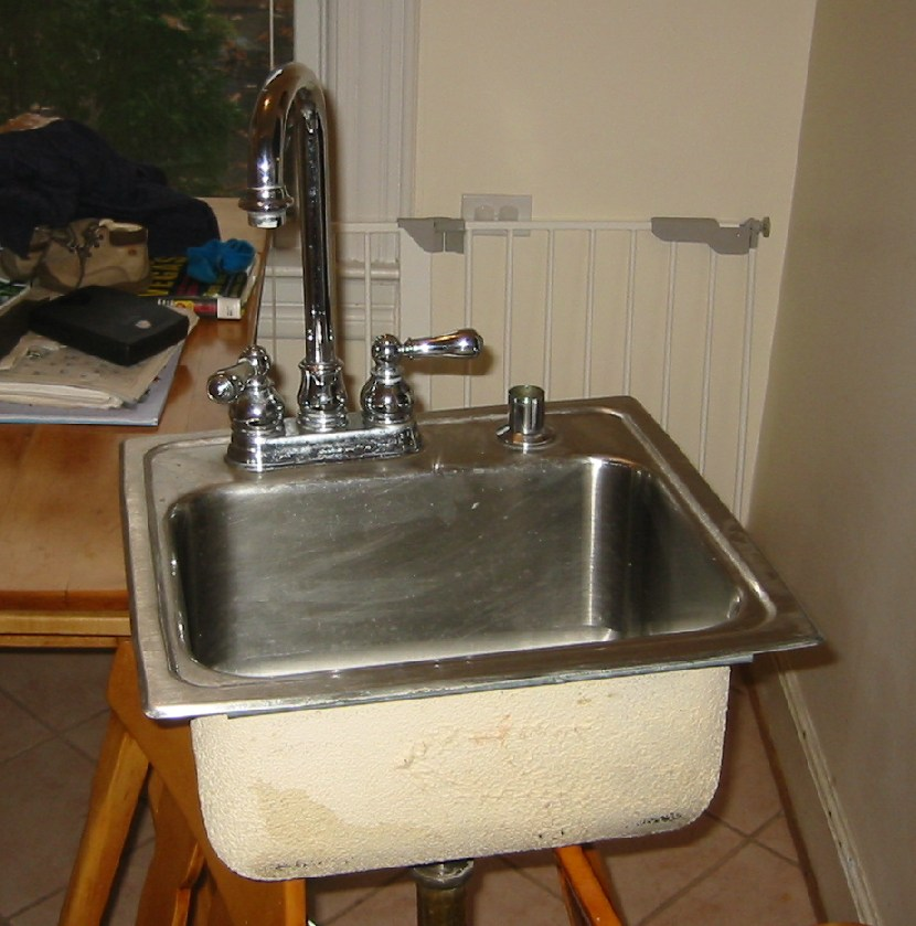 stainless bar sink