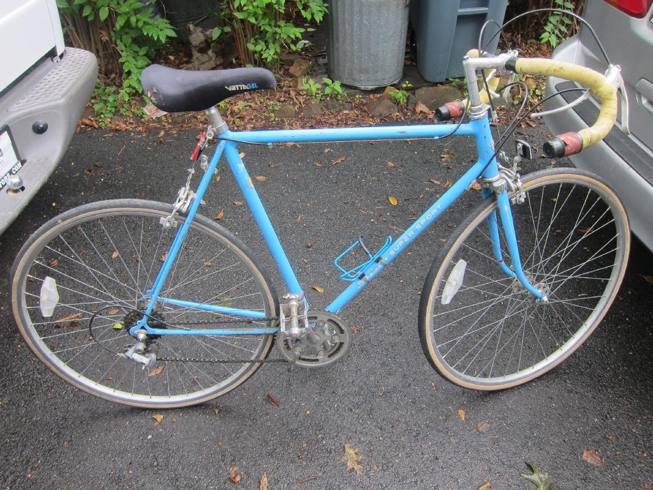 Blue Schwinn Super Sport